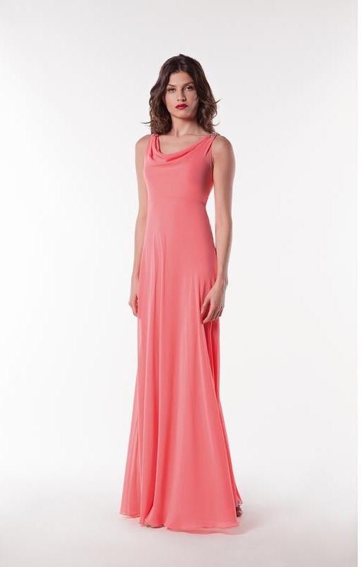 Fashion New York robe longue mousseline colorix au choix taille 36 50 - Accueil