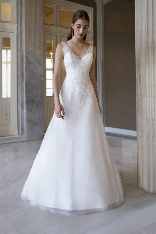 Orea Sposa Oriane robe contemporaine tulle dentelle coloris ivoire ou blanc taille 36 58 - Accueil